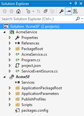 Service Fabric solution with .Net Core xproj structure
